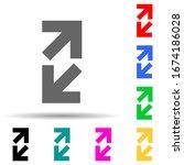 open arrows multi color style...