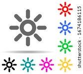 sun multi color style icon....