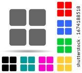 four squares multi color style...