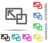 desktop zoom sign multi color...