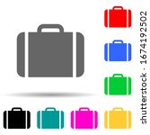 suitcase multi color style icon....