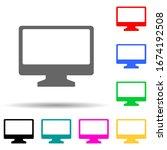 monitor multi color style icon. ...