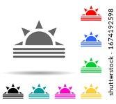 sunrise multi color style icon. ...