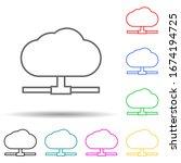 cloud storage multi color style ...