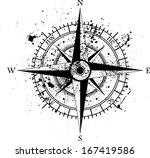 black wind rose isolated on... | Shutterstock .eps vector #167419586