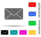 the envelope multi color style...