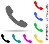 handset multi color style icon. ...