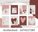 trendy color palette  spring... | Shutterstock .eps vector #1674217285