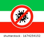 iran flag with the sign no... | Shutterstock .eps vector #1674254152