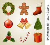 christmas design elements and... | Shutterstock . vector #167426348