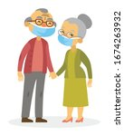 smiling asian old couple  ...   Shutterstock .eps vector #1674263932