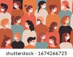 coronavirus in europe. 2019... | Shutterstock .eps vector #1674266725