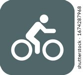 man ride bike icon. vector... | Shutterstock .eps vector #1674287968