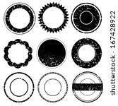 set of grunge rubber stamps... | Shutterstock .eps vector #167428922
