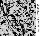 seamless flower lace pattern | Shutterstock .eps vector #167431535