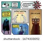 coronavirus covid 19 funny... | Shutterstock .eps vector #1674333052