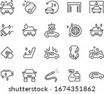 set of auto care icons  car... | Shutterstock .eps vector #1674351862