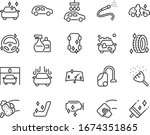 set of auto care icons  car... | Shutterstock .eps vector #1674351865
