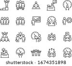 set of business icons  teamwork ... | Shutterstock .eps vector #1674351898