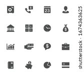 business signs flat icons in...   Shutterstock .eps vector #1674363625