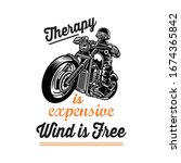 therapy is expensive wind is... | Shutterstock .eps vector #1674365842