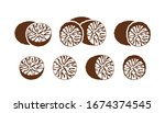 Nutmeg Logo. Isolated Nutmeg On ...