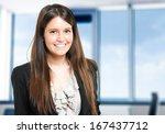 beautiful businesswoman...   Shutterstock . vector #167437712