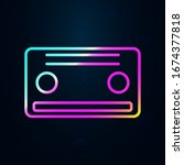 cassette in nolan style icon....