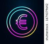 euro coin in nolan style icon....