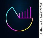 pie chart in nolan style icon....