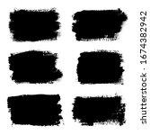 brush strokes set  isolated... | Shutterstock . vector #1674382942