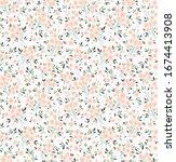 vector seamless pattern. pretty ... | Shutterstock .eps vector #1674413908