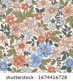 Elegant Floral Pattern In Small ...