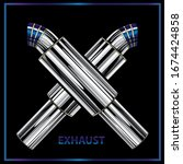 exhaust pipe icon exhaust pipe...   Shutterstock .eps vector #1674424858