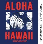 aloha vector illustration for t ... | Shutterstock .eps vector #1674430852