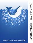 stop ocean plastic pollution....   Shutterstock .eps vector #1674447298