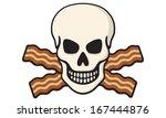 vector illustration of skull... | Shutterstock .eps vector #167444876