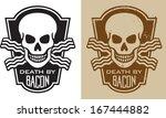 vector illustration of skull... | Shutterstock .eps vector #167444882