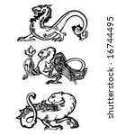 set of magic animals | Shutterstock .eps vector #16744495