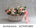 Pastel Trend Colored Flowers In ...