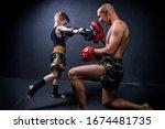 Kickboxing Coach Is Training...