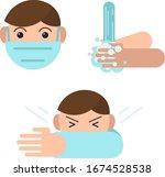 coronavirus precaution tips.... | Shutterstock .eps vector #1674528538