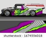 vehicle graphic kit vector.... | Shutterstock .eps vector #1674556018