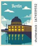 Retro Poster Berlin City...