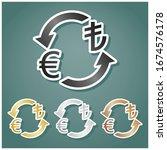currency exchange sign. euro...   Shutterstock .eps vector #1674576178