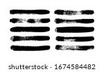 vector grungy paint brush... | Shutterstock .eps vector #1674584482
