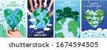 happy earth day set. vector...   Shutterstock .eps vector #1674594505