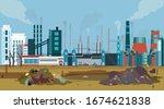 vector of a working factory... | Shutterstock .eps vector #1674621838