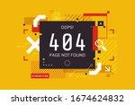 404 error page design in high... | Shutterstock .eps vector #1674624832