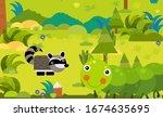 cartoon scene with different... | Shutterstock . vector #1674635695
